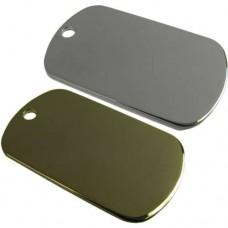 Chapa ID Militar Bañada de Oro o Plata 50x29mm