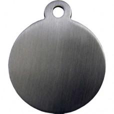 Chapa Circulo de Acero Inoxidable (con anilla) 25mm