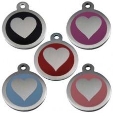 Chapa Corazón de Acero Inoxidable 25mm