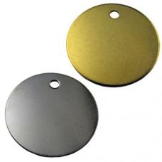 Chapa Circulo Bañada de Oro o Plata 25mm